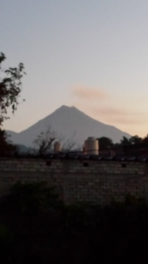 The volcano re-appeared this morning!