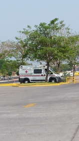 Cruz Roja Mexicana - Mexican Red Cross ambulance standing by, just in case...