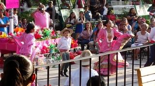 Dancers performing.