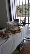 Richard and Magda's table for their products from their organic farm, Rancho Nextía