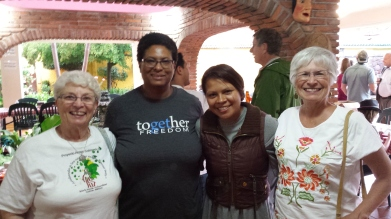 Sandy, Pam (a Rotarian), one of the becarias of Project Amigo and me