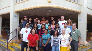 students, volunteers, Colorado Felix and staff at the Hacienda in Cofradía