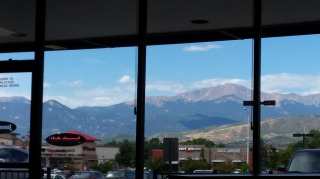 View of the Rockies from Jason's Deli