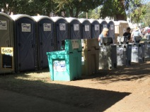 A wonderful idea - handwashing stations outside the Port-a-Potties. Just having to use the portable bathrooms leaves your hands disgustingly dirty and full of germs. It should be required to provide something with which to wash up afterwards...